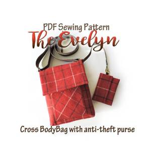 The Evelyn Cross body bag with anti theft purse