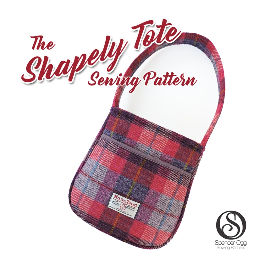Shapely tote bag social media