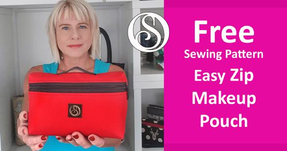 Free sewing pattern. Make up bag