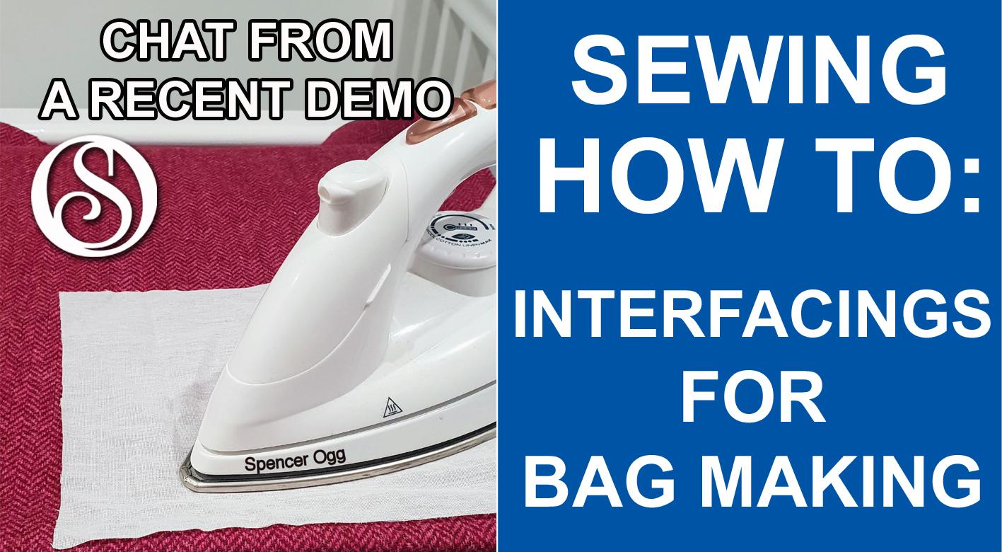 Interfacings for bag making